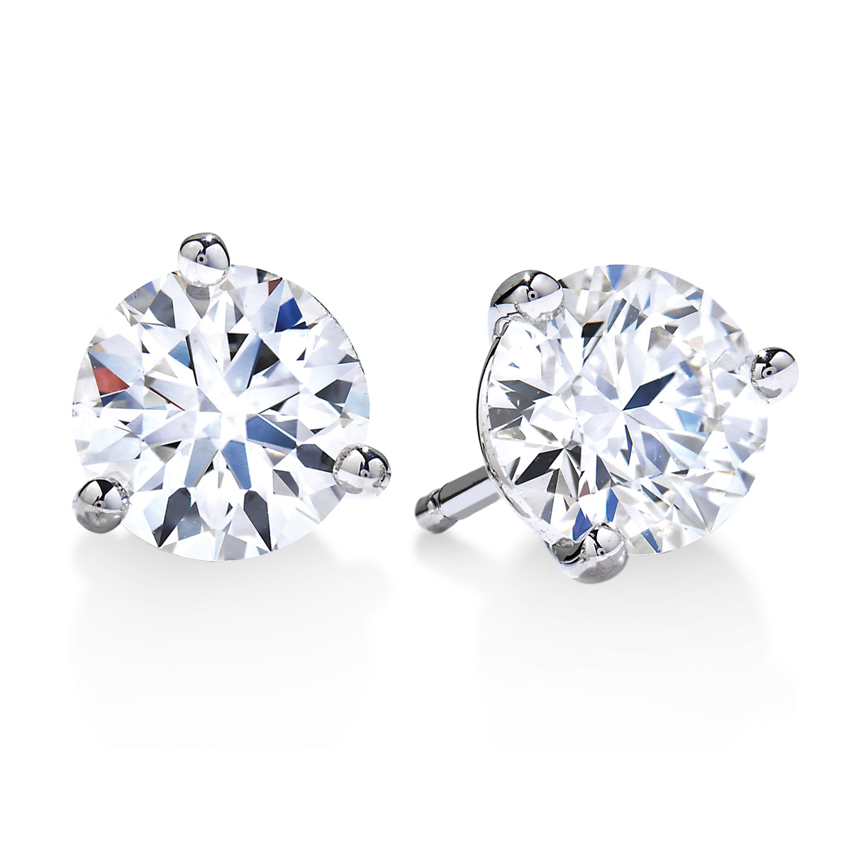 Picture of Large Diamond Stud Earrings